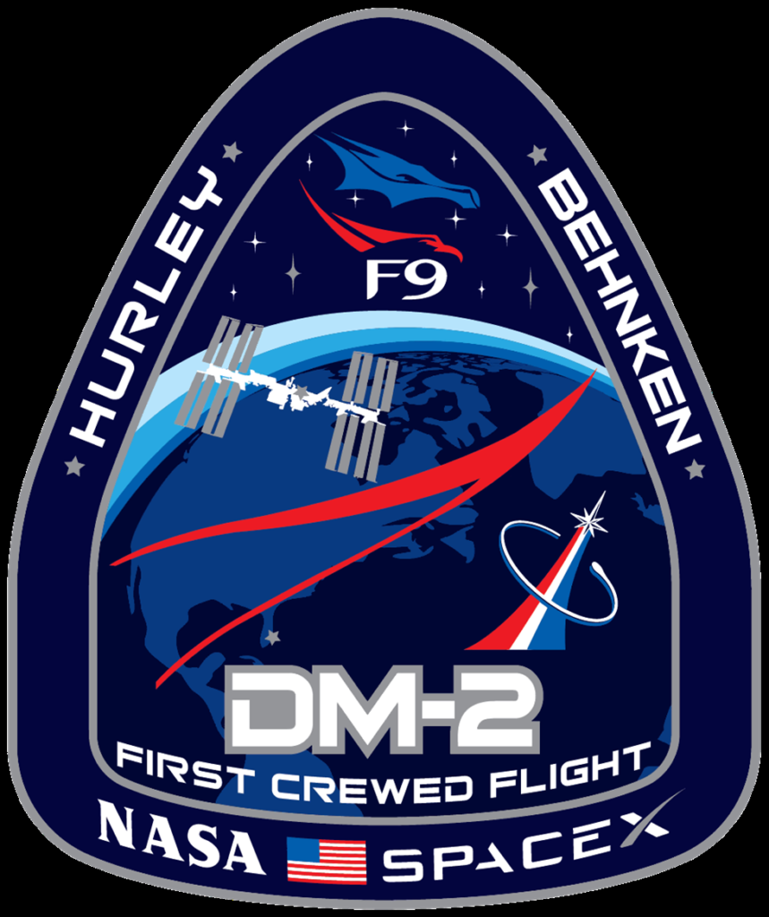 SpaceX and NASA first Crew flight badge