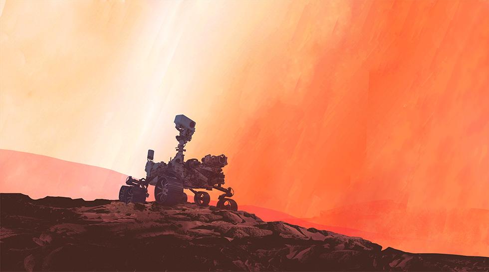 Mars 2020 animation