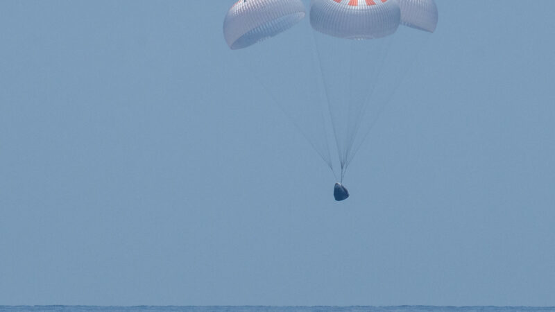 The Crew Dragon splashdown successfully in the Gulf of Mexico at 12:18 AM IST