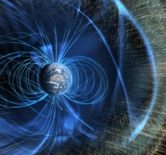 While Earth may not be perfectly shielded from the Sun, our magnetic field allows us to hold onto our nitrogen/oxygen atmosphere, and it should remain the case for billions of years.
