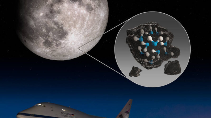 NASA confirms there is evidence of hidden water on sunlit surface of the moon