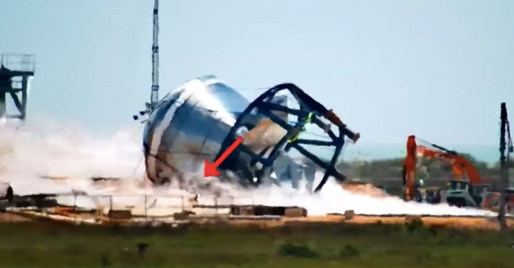 Robot Dog Spot Inspects SpaceX Test Site After Catastrophic Collapse