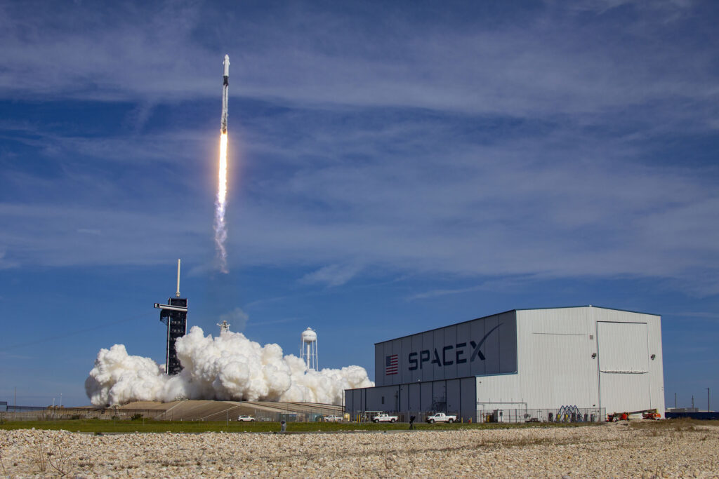 A SpaceX Falcon 9 rocket on a resupply mission to the International Space Station lifts off from pad 39A at the Kennedy Space Center in Cape Canaveral on Sunday, Dec 6.