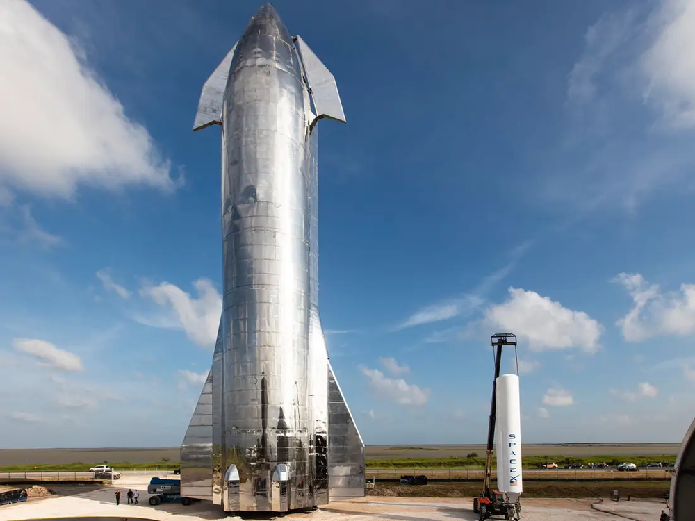 The SpaceX Starship Mk.1 prototype unveiled in September 2019.