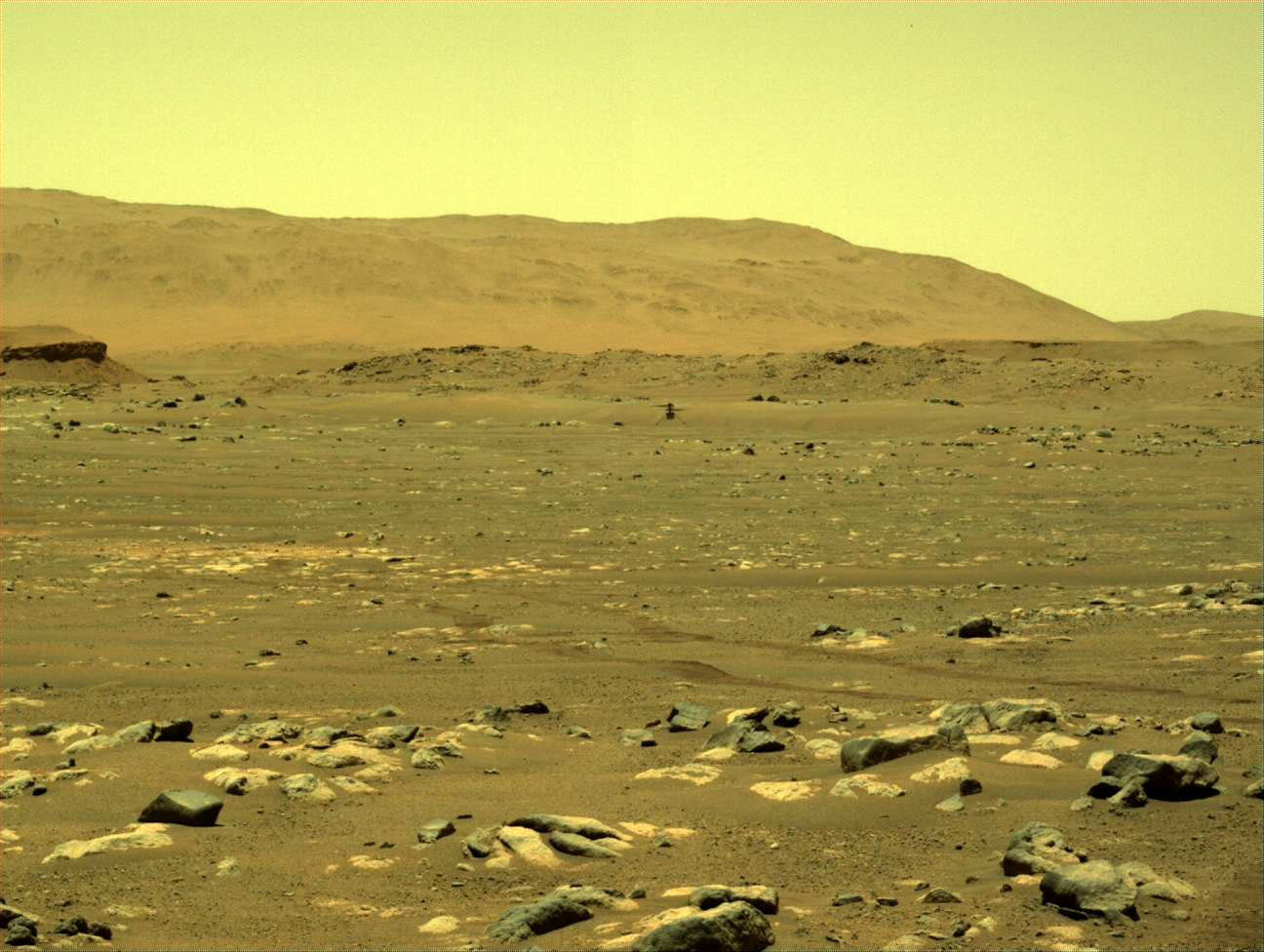 Ingenutiy hovering above the surface of Mars
